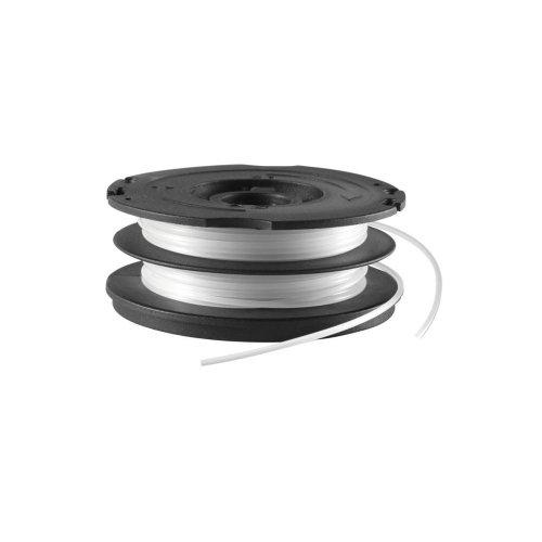 BLACK+DECKER Cassette avec Bobine de Rechange pour Coupe-Bordures, Bobine Reflex Plus A Déroulement Automatique, 2 x 6 m de Fil en Nylon Reflex Plus, Fil de ⌀1,5 mm, A6495-XJ