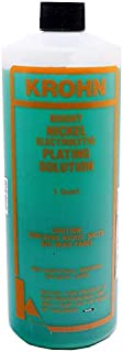 BRIGHT NICKEL ELECTROPLATING SOLUTION 1 Quart JEWELRY PLATING BATH METAL PIECES