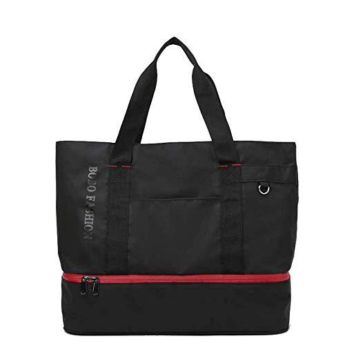 Gym Bag - Droog Nat Gescheiden Sports Geïsoleerde Bag Travel Duffle Bag extra grote zwarte handtas Yoga Fitness schoudertas Tote for vrouwen, 35 * 32 * 16,5 cm Reduce Weight Mooie en praktische sportt