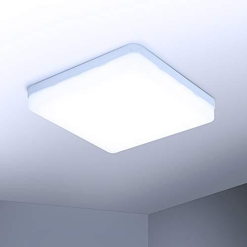 Yafido LED Lámpara de techo 36W Moderna Plafón LED luz de techo Cuadrado delgada 3240lm Blanco frío 6500K para Dormitorio Cocina Sala de estar Comedor Balcón Pasillo
