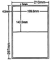 LDW2 iB-5 OAラベル ナナワード (199.6×143.5mm 2面付け A4判) 5梱(レーザー、インクジェットプリンタ用。上質紙ラベル)マル...