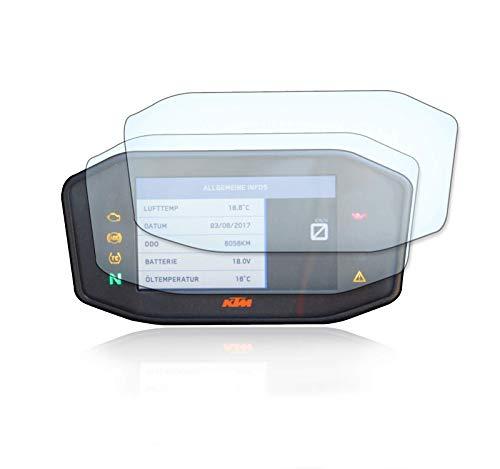 [2 Stück] Displayschutzfolie Tacho Schutzfolie geeignet für KTM Duke 690 / Duke 790 / Duke 1290 2x Anti Glare