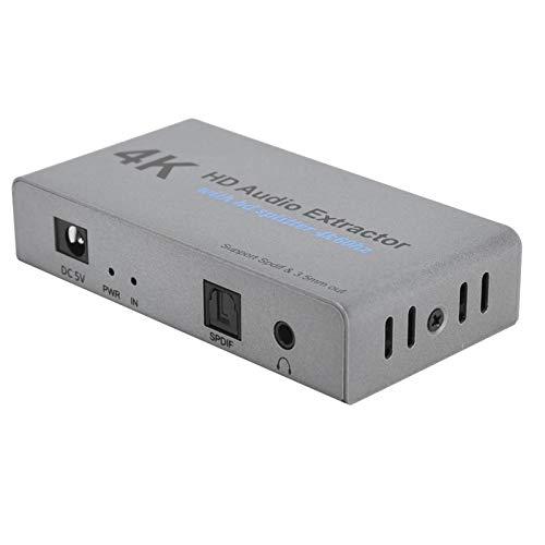 Separador de audio compacto 2 convertidor de alta resolución extractor de audio portátil ligero para computadora para TV