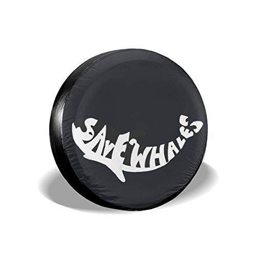 Lionel Philip Save The Whales - Funda Impermeable para neumáticos de Repuesto para Jeep, remolques, RV, SUV, autocaravanas y Ruedas de vehículos.