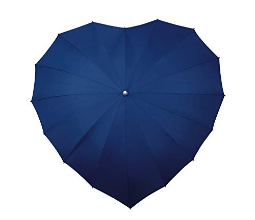 Impliva paraplu in hartvorm, opening hand, 110 cm, donkerblauw