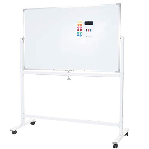 Whiteboard HWC-C85, Magnettafel Memoboard Pinnwand, mobil rollbar inkl. Zubehör ~ 150x100cm