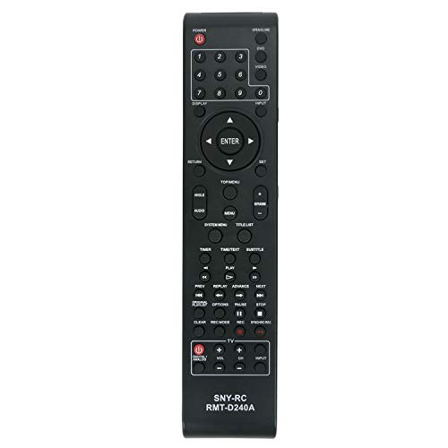 ZdalaMit RMT-D240A Replacement DVD VCR Comb Remote Control Fit for Sony RDR-VX525 RDR-VX555 RDR-VXD655 SDR-VX525/VCR