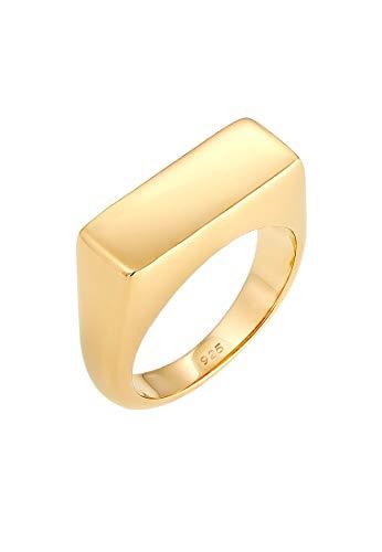 Elli Ring Siegelring Matt Geo Basic Blogger Trend 925 Silber