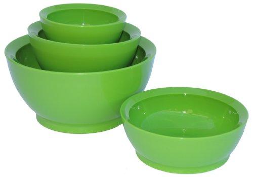 Calibowl Ceramic Cali Stack Set of 4 Multi Sized Bowls, Avacado