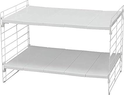 L 42//70 x l 39.5 x A 39.5 cm Telescopik Rack USD-1V Acero y polipropileno Iris Ohyama Estante modular y extensible 42-70 cm para armario de cocina debajo del fregadero