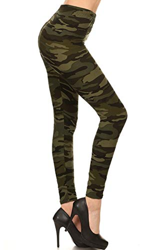 N021-OS Camouflage Army Print Fashion Leggings
