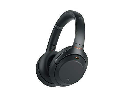 Sony Noise Cancelling Headphones WH1000XM3: Wireless Bluetooth Over the Ear Headset with Mic for phone-call and Alexa voice control - Industry Leading Active Noise Cancellation - Black