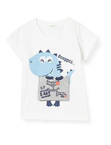 UNITED COLORS OF BENETTON T- Shirt Pull sans Manche, Blanc (Bianco 101), 86/92 (Taille Fabricant: 90) Bébé garçon