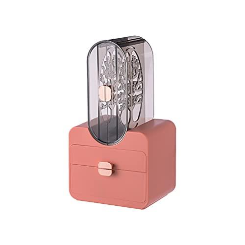 Y-POWER Soporte de exhibición de collar rack a prueba de polvo pendientes anillos almacenamiento titular cajón caja de plástico joyería organizador regalo