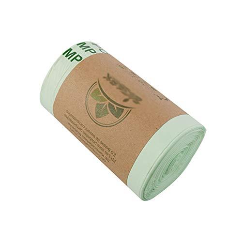 Lihuzmd Sac Poubelle Biodégradable 20 Counts, PLA Est Dégradables Sac Poubelle Épais Dégradable Compostable Sac Poubelle De Recyclage 100% Sacs Compostables,Vert,36x35cm