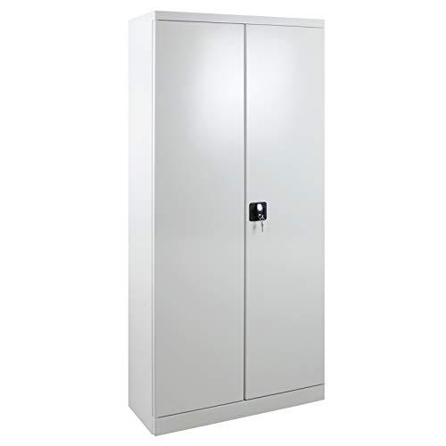 ADB Putzmittelschrank/Besenschrank/Universalschrank/Mehrzweckschrank/Metallschrank/Stahl-Schrank/Spindschrank, 80x37x179 cm, Sehr Robust, abschließbar
