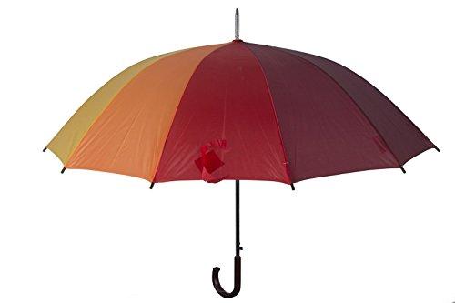 Ombrello uomo donna lungo PERLETTI arcobaleno multicolore automatico Q692