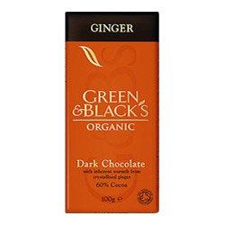 (10 PACK) - Green & Blacks - Organic Dark Choc Ginger 60%   100g   10 PACK BUNDLE