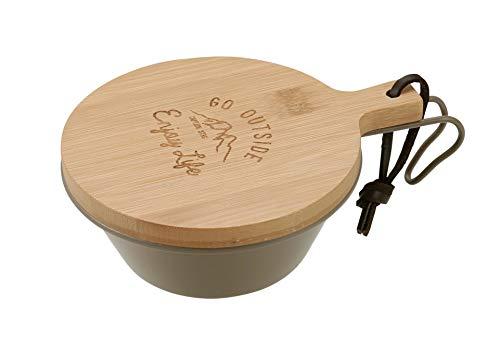 ぬくもりのある竹製のリッド。キャプテンスタッグの320mlのシェラカップなら、カラー・シリーズを問わず対応します。カッティングボードやお皿代わりにもなる、おしゃれなアイテムです。