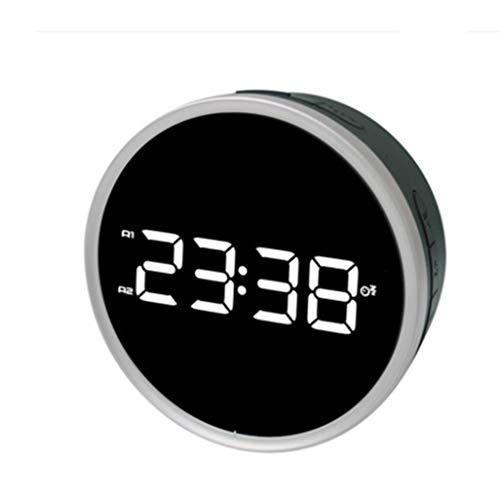 HUOQILIN Wit Licht Snooze Radio Alarm Klok Ring Alarm Klok Digitale Display Klok Externe Voeding LED Display Alarm Klok Licht Donker Aanpassing Radio