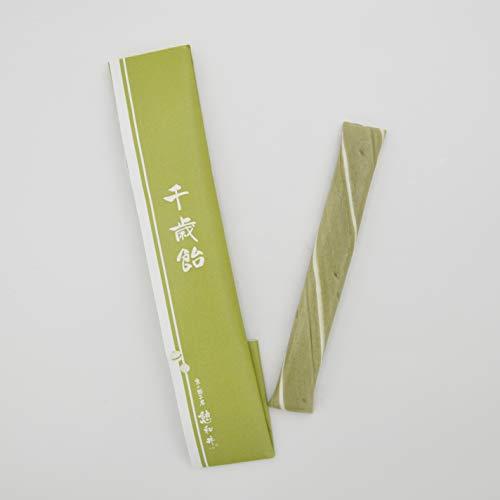 千歳飴 1本 (透明個包装袋)のし包み 緑 抹茶