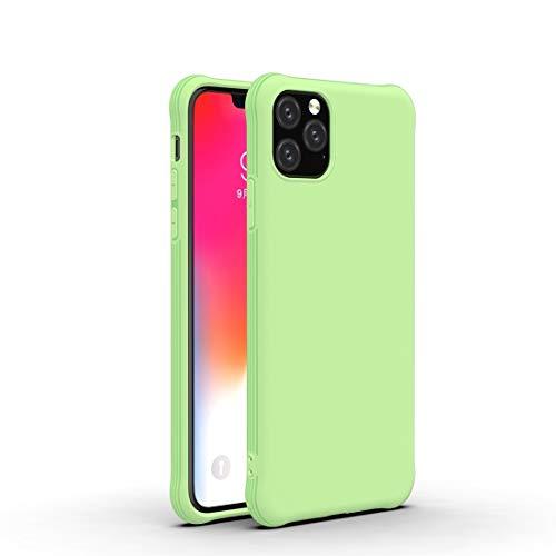 Sevenplusone Stoßfeste Schutzhülle for iPhone 11 Stoß- Frosted ultradünne TPU-Schutzhülle (Ice Blue), einfache und kompakte Bauweise (Farbe : Matcha Green)