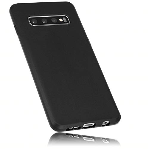mumbi Hülle kompatibel mit Samsung Galaxy S10 Handy Hülle Handyhülle, schwarz