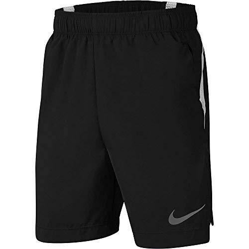 Nike Jungen Badeshorts, Schwarz/Weiß/Silber reflektieren, Small