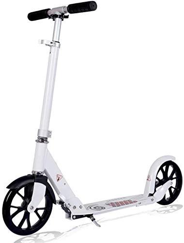 LSK Patinete Ruedas Grandes Kick Scooter para Adultos/Adolescentes, Scooter De Aluminio Plegable...