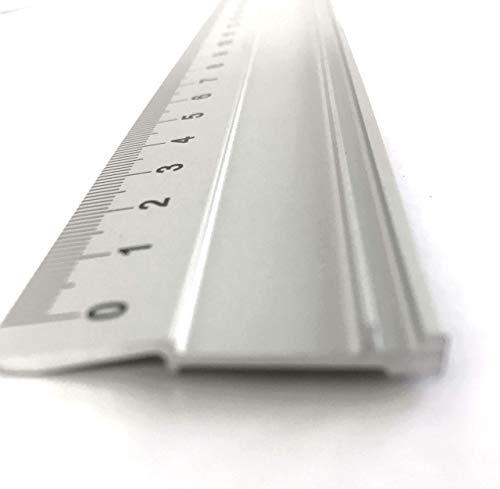 Altera Aluminium Lineal, Rutschfest und mit Aufhängeloch (im Etui Verpackt) (100 cm)