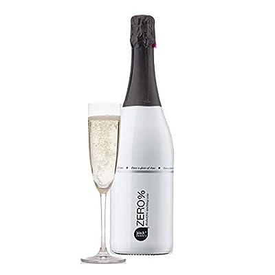 Red Fox Wines Black & Bianco Zero Alcohol Free Sparkling Wine - Non-Alcoholic White Wine - Fresh & Fruity Premium German Wine - Made From Airén, Chardonnay & Ugni Blanc - 75cl, Zero%
