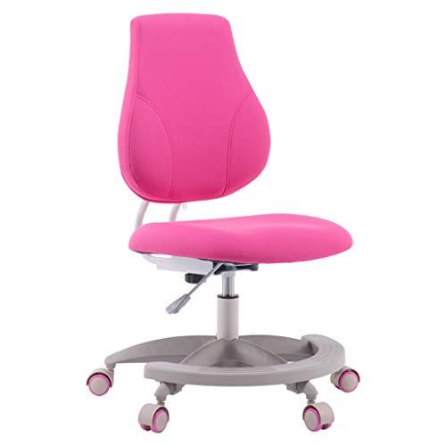 Canapés Meubles pour tout-petits Apprentissage de l'enfant Siège de ménage Chaise de dossier de chambre pour enfant Chaise d'ordinateur pour enfant Chaise d'étude rose Chaise pivotante Chaise d'écritu