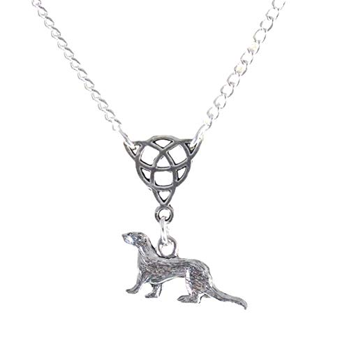 Small Triquetra and Ferret Or Celtic Ferret Necklace 1772