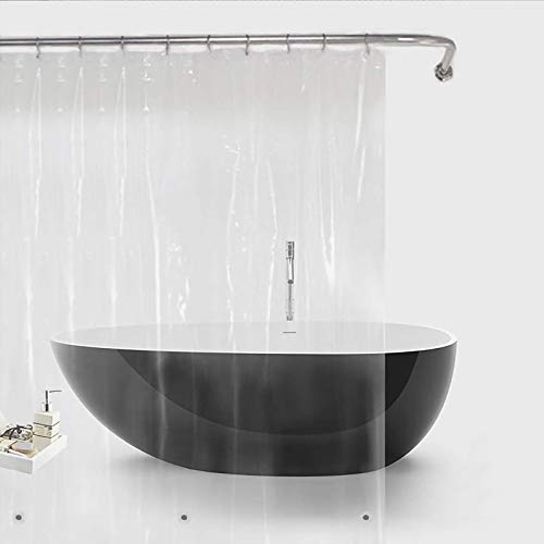 Bamyko Shower Curtain Liners, 72x72 Inch Clear Shower Liner, PEVA Waterproof Plastic Liners, Bathroom Shower, Light Weight, Odorless
