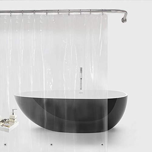 Duschvorhang Bamyko PEVA 3 Gauge Duschvorhänge Antischimmel, Wasserdicht, Ungiftig, Umweltfre&lich, Keine Chemischen Geruch für Badezimmer - 180 x 180cm, Transparent