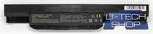 LI-TECH Batería Compatible 10,8 V 11,1 V 6 Celdas para ASUS K53S-E 48 WH Ordenador portátil
