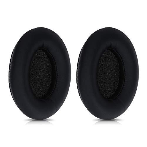 kwmobile 2X Almohadilla Compatible con TaoTronics BH060 - Almohadillas de Repuesto para Cascos y Auriculares en Cuero sintético