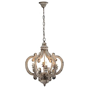 A&B Home Wood and Metal Chandelier, 20.5  x 18  x 24