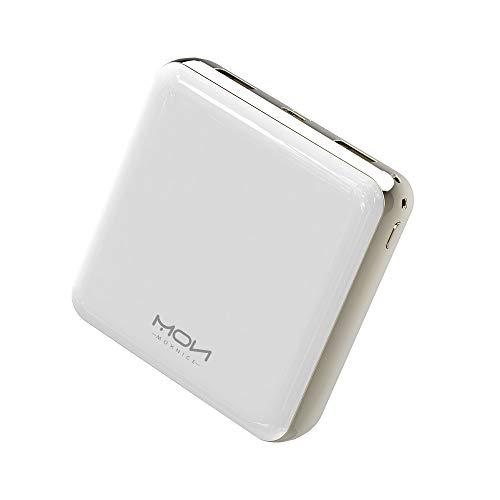 MOXNICE Power Bank 20000mAh Powerbank, Kompakt Externer Akku mit 2 Ausgänge für Smartphones, Tablets (Weiß)