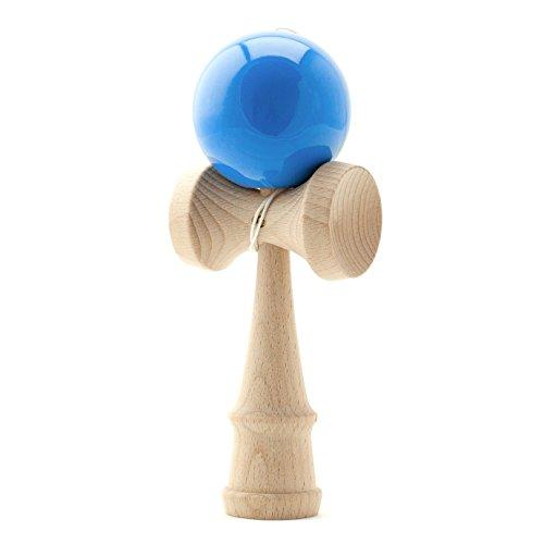 PRECORN Kendama Japanisches Geschicklichkeitsspiel Blaue Kugel Holz-Spielzeug Kugelfangspiel Marke
