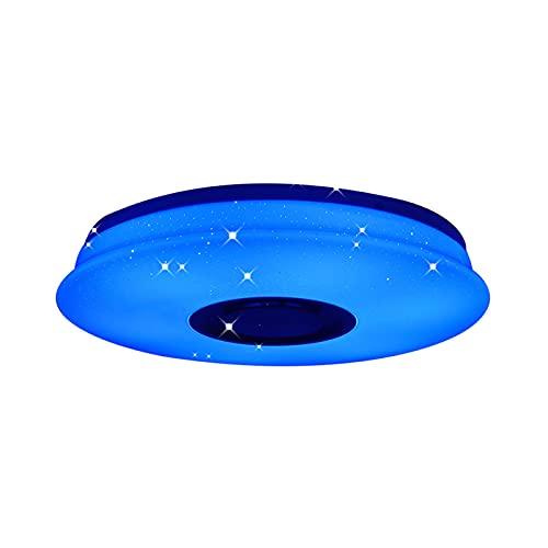 COFEMY Lámpara LED de techo de 36 W, con altavoz Bluetooth, control de aplicación inteligente, cambio de color, para interiores