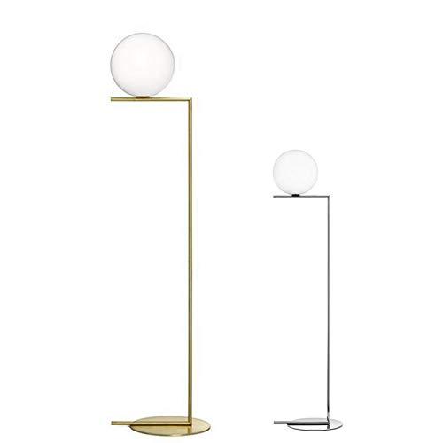 QIDOFAN stehleuchte Kreative einfache Stehleuchte Glaskugel-Stehleuchte Chrom Gold for Wohnzimmer Schlafzimmer Kunst-Ausgangsdekoration Beleuchtung Innen