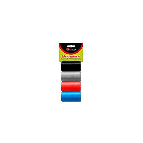 Nayeco Bolsas higienicas 4 Rollos (Colores Surtidos) ⭐