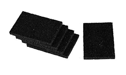 Gummigranulat Terrassen Pads Gummis 8 mm stark für WPC Holz Terrassen Stelzlager Dielen Bau Fundament für WPC Terrassendielen Unterkonstruktion Holz Dielen Terrassen
