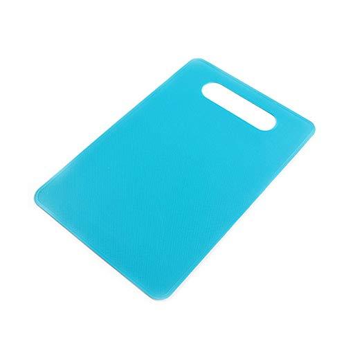 Bloque para Picar de Cocina Juego de 3 Piezas de Frutas Tabla de Cortar Herramientas de mármol de imitación Antideslizantes Accesorios de Cocina Tabla de Cortar - Azul