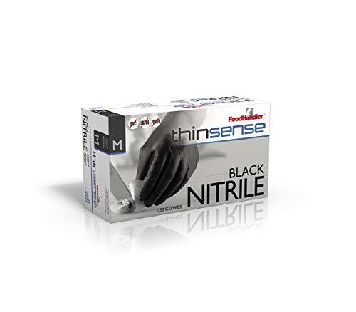 FoodHandler 103-TS14-BLK FoodHandler thinsense Nitrile MD Black (Pack of 1000)