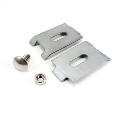Zaun Schilderhalter verzinkt - Silber, 70 x 40 mm, Schilder Befestigung, Zaunhalter, Schilder Halterung für Zäune