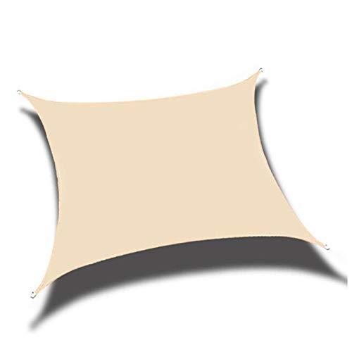 TRITTHOCKER 2x1.8 Patio Piscina Piscina Oxford Paño Impermeable Protección Superior UV Protección al Aire Libre Canopy Shade Navega,Beige