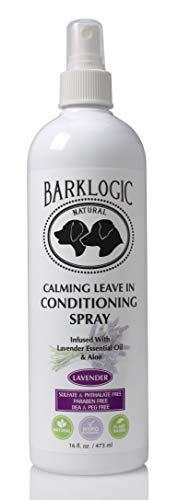 BarkLogic Calming Leave In Conditioner & Detangling Spray for Dogs, Lavender 16 oz