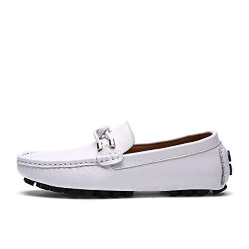 Zhang Herren Lederschuhe Frühling/Herbst/Winter Geschäfts/Casual Tages Party & Evening Außen Loafers & Walking-Schuhe Non-Slipping Wear Proof,Weiß,41